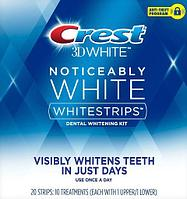 Отбеливающие полоски Crest Noticeably White Whitestrips Dental Whitening Kit (2-3 тона)