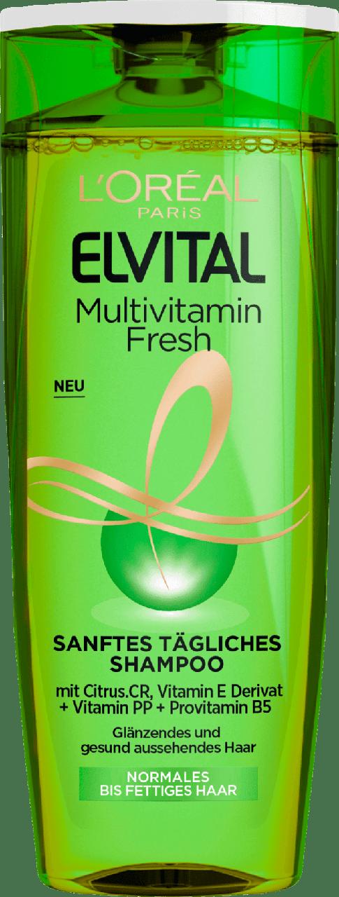 Шампунь для нормального і схильного до жирності  Elvital L'oreal Paris Multivitamin Fresh 250мл. оригінал