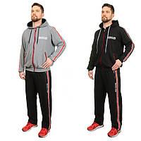 Мужской спортивный костюм стильный «Госс» (Серый, черный | 48, 50, 52, 54, 56, 58)