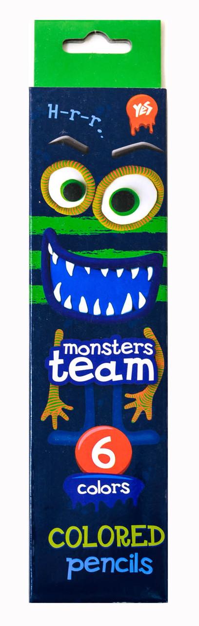 """Карандаши  6 цв. """"Monsters"""""""