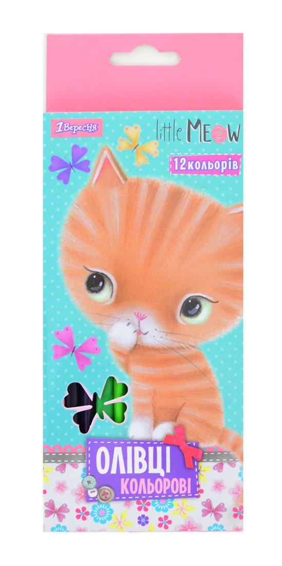 "Карандаши 12 цв. ""Little meow"""