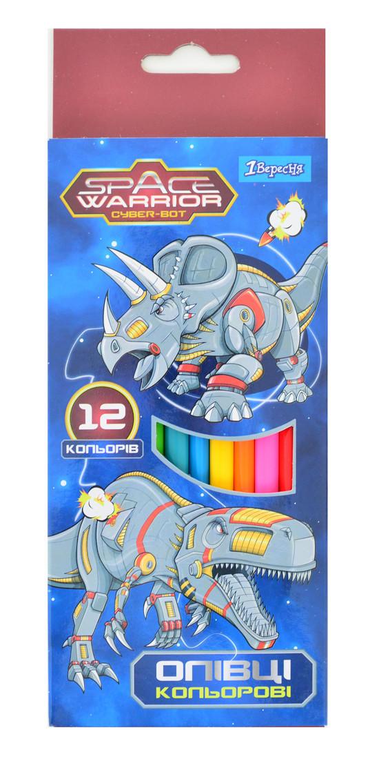 "Карандаши 12 цв. ""Space Warrior"""