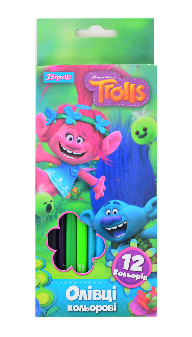"Карандаши 12 цв. ""Trolls Dream"""
