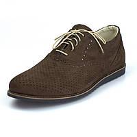 Легкие коричневые туфли нубук летняя обувь мужская Rosso Avangard Romano EVA Brown NUB Perf, фото 1