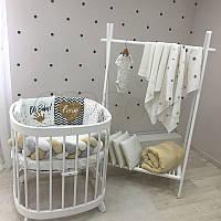 Бортики коса в овальную кроватку Art Design Oh Baby