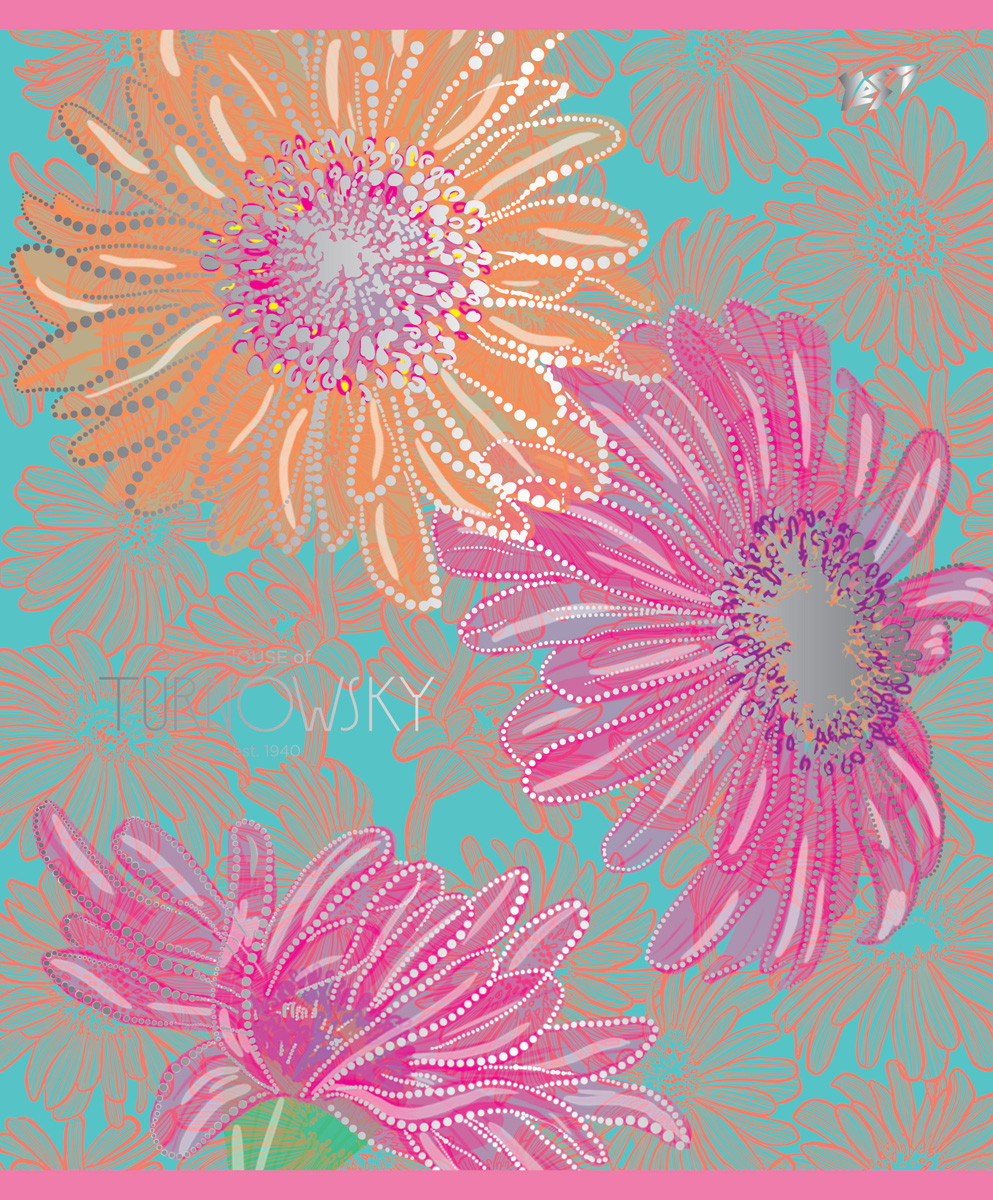Тетрадь А5/12 лин. YES УФ-выб+фольга серебро Turnowsky flowers, 10шт/уп.