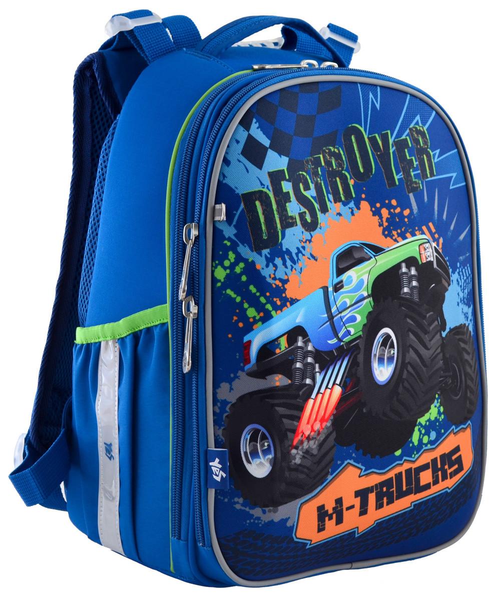 "Рюкзак школьный, каркасный H-25 ""M-Trucks"""