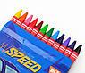 "Восковые карандаши YES 12шт. ""Speed Car"", 7*90мм, фото 2"