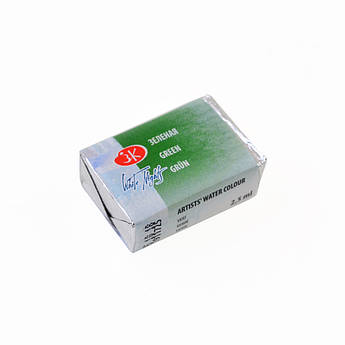 Краска акварельная КЮВЕТА, зеленая, 2.5мл ЗХК