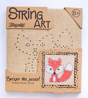 """Стринг-арт """"Лиса"""" набор для творчества"""