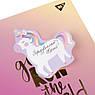 "Бумага с липким слоем YES фигурная ""Unicorn"", 99*116мм, 40 лист, фото 2"