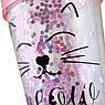 """Тамблер YES с блестками """"Pink Cat"""", 450мл, с трубочкой, фото 5"""
