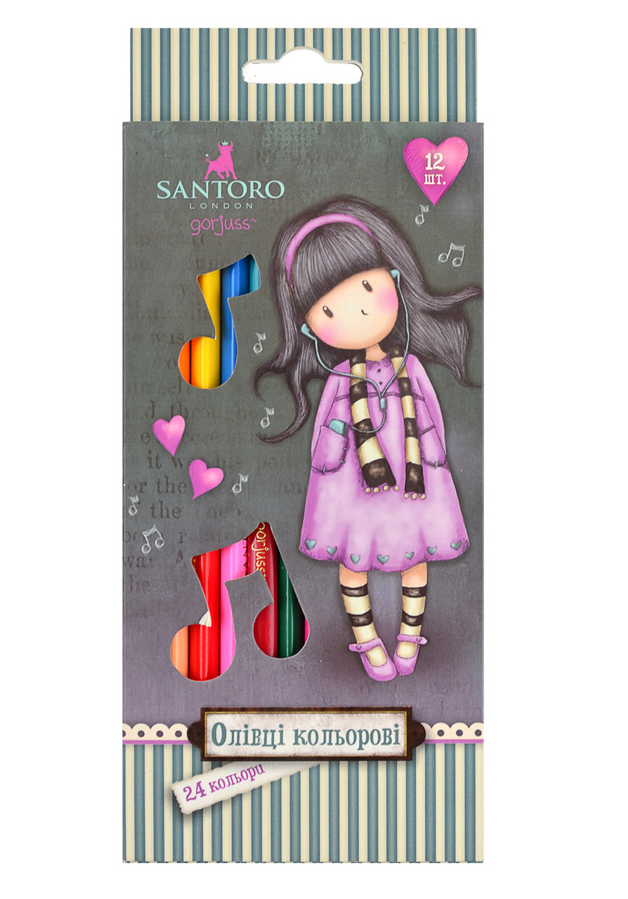 "Карандаши 12/24 цв. ""Santoro Little Song"""