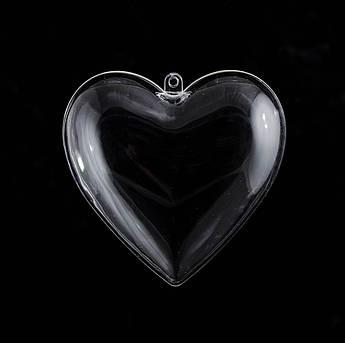 """Пластиковая форма Santi """"Сердце"""" 8см, 5шт/уп"""