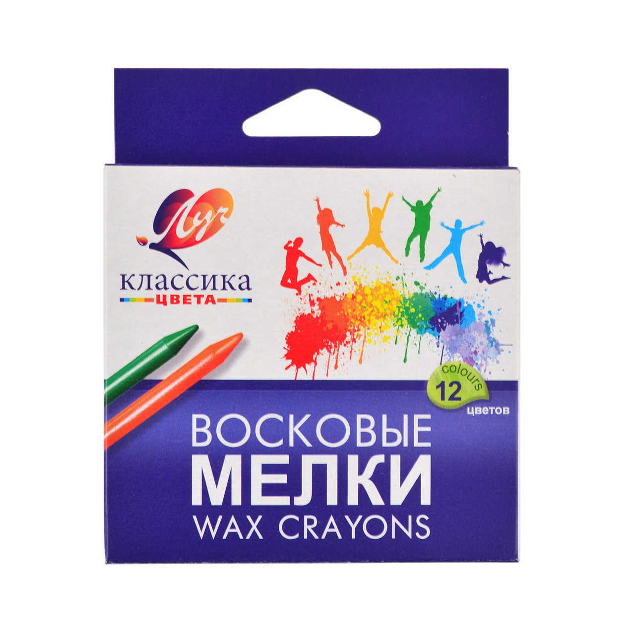 "Карандаш воск. круглый 12 цв.""Классика"" (8*90) 12C861-08"
