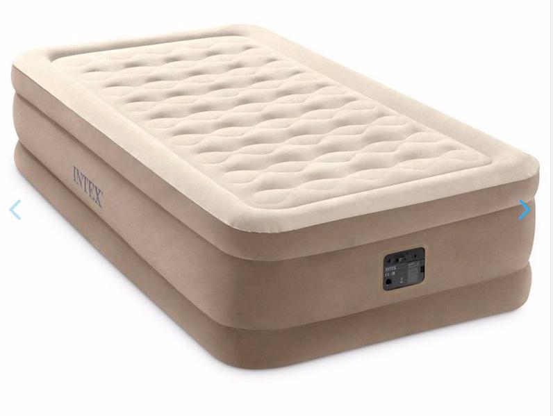 Односпальная надувная кровать Intex 64426 (99 x 191 x 46 см) Ultra Plush Airbed + Встроенный электронасос 220В