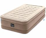 Односпальная надувная кровать Intex 64426 (99 x 191 x 46 см) Ultra Plush Airbed + Встроенный электронасос 220В, фото 3