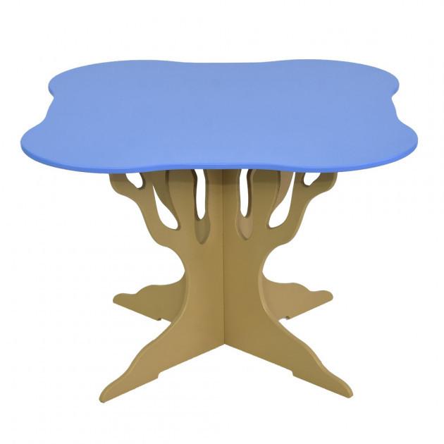 """Стол """"Мася"""" (ножка в форме дерева квадрат голубой) Бамсик /1/"""