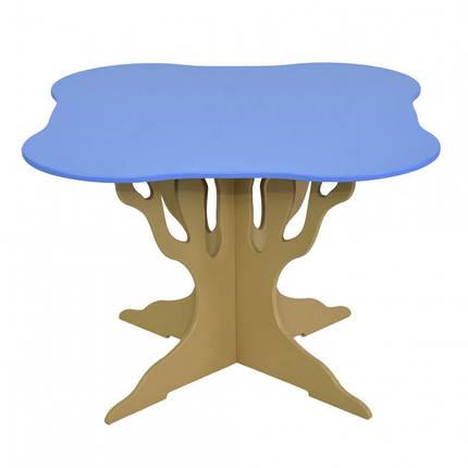 """Стол """"Мася"""" (ножка в форме дерева квадрат голубой) Бамсик /1/, фото 2"""