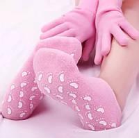 Спа набор силиконовые увлажняющие носочки + перчатки