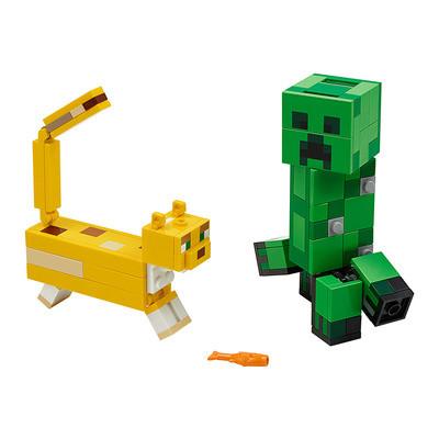 Конструктор LEGO Minecraft Крипер и Оцелот (21156)