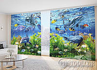 """Фото Шторы """"Аквариум с дельфинами"""""""