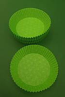 """Тартолетка для кексов  """"Круглая зеленая""""D71 H22 (100шт)/9/ (1 уп.), фото 1"""