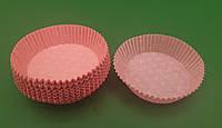 """Тартолетка для кексов  """"Круглая розовая""""D71 H22 (100шт)/9/ (1 уп.), фото 1"""
