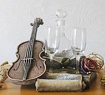 Штоф Скрипка Романтика винный набор Гранд Презент ШП412цв