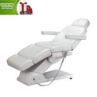 Косметологическое кресло- кушетка косметологическая автоматическая электрическая BR-2309-3 мотора цвет белый