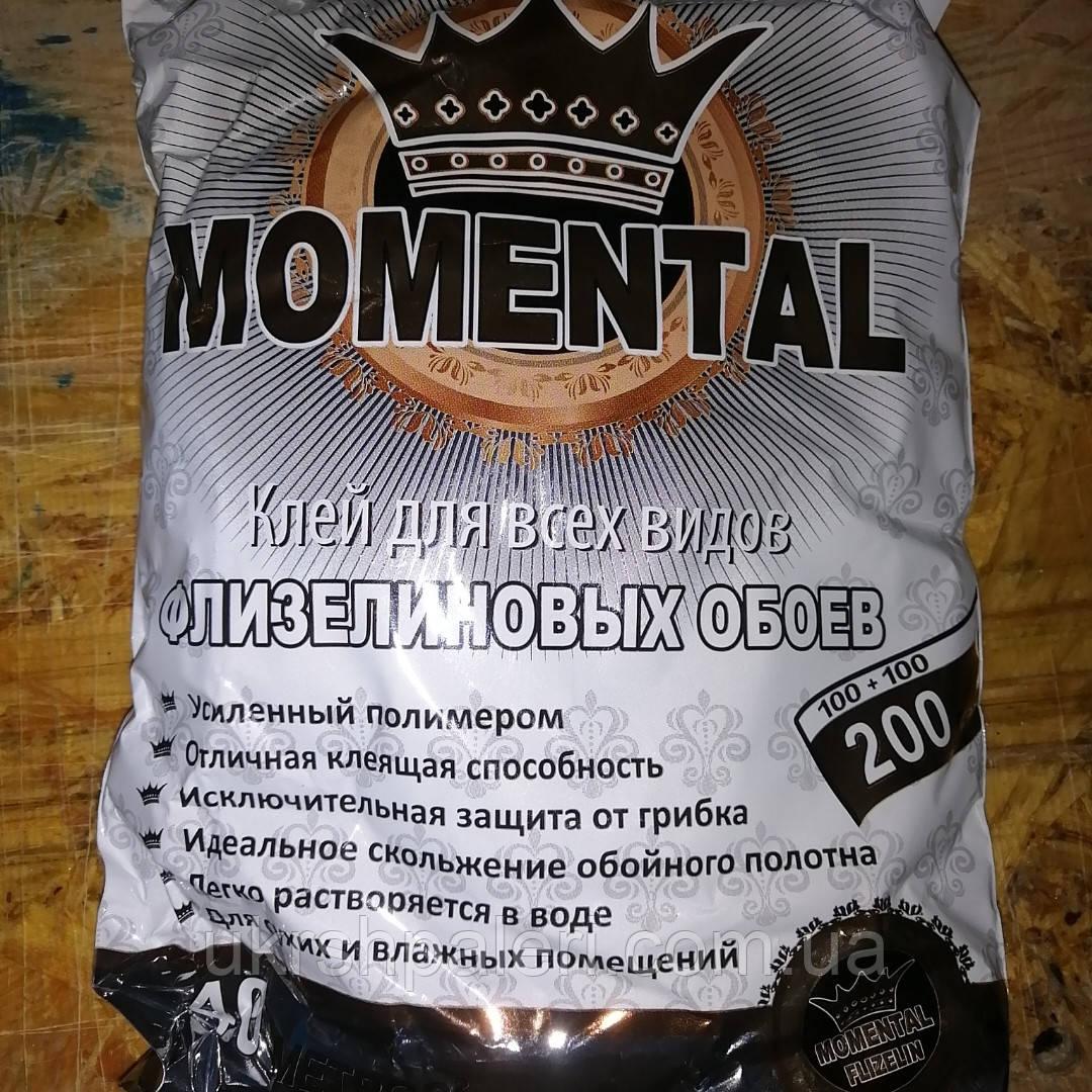 Обойный Клей Моменталь Флизелин винил 200 грамм