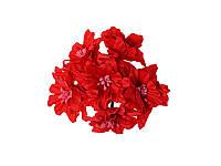 Декоративный букетик - Красные Лилии, 5 см, 3 шт