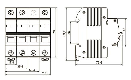 Выключатель автоматический ВА47-29 3Р 50А 4.5кA В IEK, фото 2