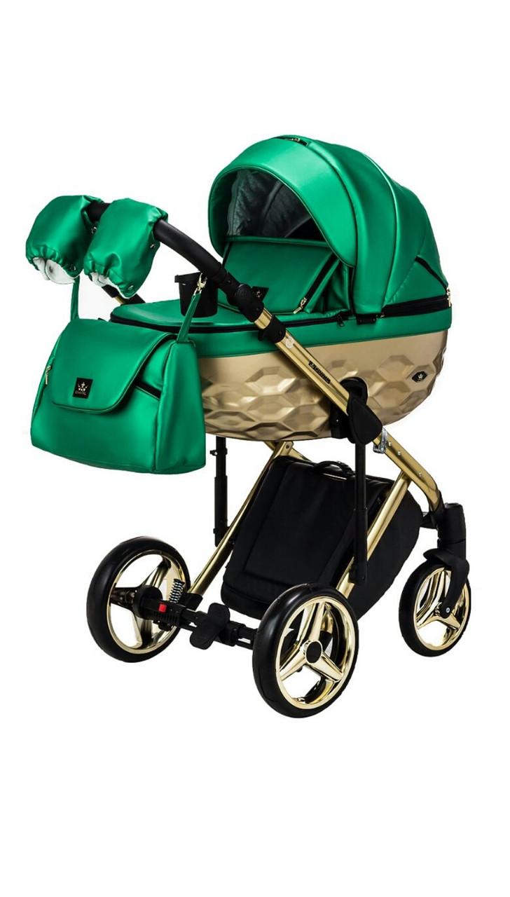Дитяча коляска 2 в 1 Adamex Chantal Star  Polar Gold 120 Ecco