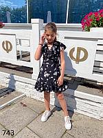 Платье для девочки на запах 134,140,146,152