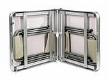 Стол алюминиевый чемодан для пикника со стульями (усиленный), фото 2