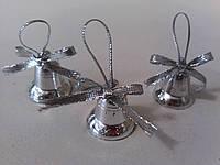 Набор к новому году Колокольчики мини серебрянные, фото 1