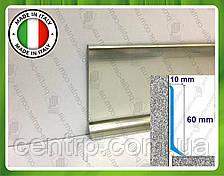 Алюминиевый плинтус для пола Profilpas Metal Line 90/6 высота 60 мм Титан полированный (анод)