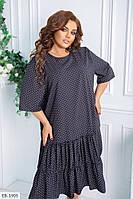Широкое женское платье за колено большие размеры 48-62 арт 739