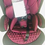 Автокресло 2в1. Для детей от 9 месяцев до 12 лет. 5-ти точечные ремни. Bambi M 3546-7, фото 5
