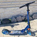 Самокат двухколесный нагрузка 100 кг складной, усиленная рама Best Scooter 2021, фото 2