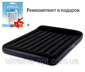 Надувной матрас Ремкомплект в подарок. Электронасос 220В. Размер: 191х137х25см. Нагруза: 150 кг
