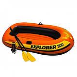 Лодка 2-х местная 211х117х41 нагрузка 186 кг с веслами и насосом  Intex 58332 Explorer 300 Set, фото 5