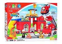 """Конструктор JDLT 5156 (аналог Lego Duplo) """"Пожарная станция"""" 85 детали HN"""