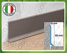 Алюминиевый плинтус для пола Profilpas Metal Line 90/6 высота 60 мм Античный серый (крашеный)