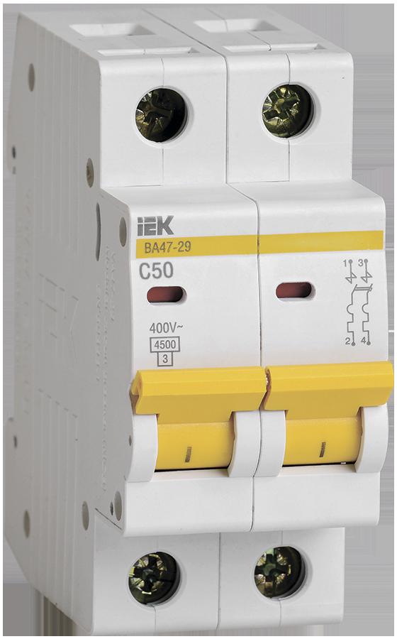 Выключатель автоматический ВА47-29 2Р 50А 4.5кA C IEK