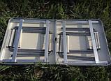Стол алюминиевый чемодан для пикника со стульями (усиленный), фото 7