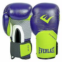 Перчатки боксерские кожаные на липучке ELS PRO STYLE ELITE  (р-р 10-12oz, цвета в ассортименте), фото 3