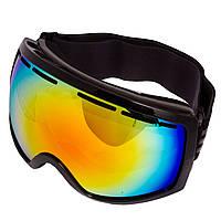 Очки горнолыжные SPOSUNE (TPU,двойные линзы,PC,антифог,оправа-черная, цвет линз цвета в ассортименте)