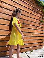 Пляжный халатик короткий для девочки шифон 134,140,146,152